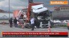 Bolu'da TEM Otoyolu'nda  Hurdaya Dönen Tır'dan Burnu Bile Kanamadan Çıktı