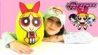 Powerpuff Girls Dev Sürpriz Yumurta Açma Oyun Hamuru Blossom Bubbles Buttercup Oyuncakları