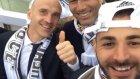 Benzema'nın kamerasından şampiyonluk sevinci