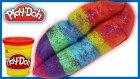 Play Doh Oyun Hamuru Simli Gökkuşağı Dudak Nasıl Yapılır | EvcilikTV