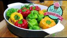 Fırında Bulgurlu Renkli Biber Dolması / Ayşenur Altan Yemek Tarifleri