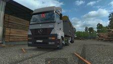 Euro Truck Simulator 2 Mercedes Benz Axor 1840 ile Tomruk Çekiyoruz