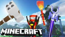 Minecraft Yeni 4 Tane Sihirli Süper Güçlü Silahlar!