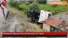 Manisa'nın Alaşehir İlçesinde  Öğrenci Servisi Devrildi: 26 Yaralı