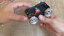 Ev Yapımı Mini Jeneratör , Oyuncak Arabadan Elektrik Üretme