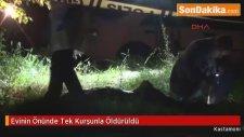 Kastamonu'da,  Evinin Önünde Tek Kurşunla Öldürüldü