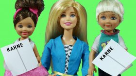 Barbie ve Ailesi Karne Günü Heyecanı | Barbie Türkçe izle | Evcilik TV