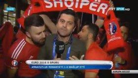 Arnavutluk Taraftarının Trt Muhabirini Trollemesi