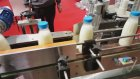 ERDA süt ve ayran etiketleme makinesi. ERDA milk labelling machine.