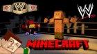 Minecraft'ta JOHN CENA ile EFSANE KAVGA ETTİM!! (Minecraft WWE)