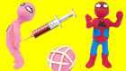 Pink Spidergirl Vs Doctor Spiderman Stop Motion Videos Play Doh Gerçek Hayatta Kahramanlar