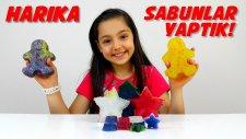 Rengarenk Sabun Yapımı Simli Renkli Galaksi Sabunlar Yaptık - DIY Kendin Yap