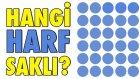 Saklı Harfi Bulabilecek Misin? - İnteraktif Göz Testi - Yap Yap