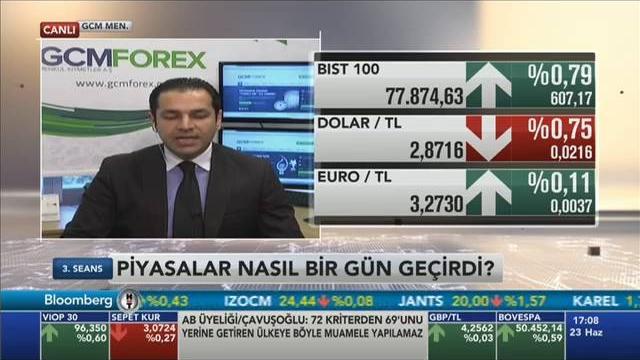 23.06.2016 - Bloomberg HT - 3. Seans - GCM Menkul Kıymetler Araştırma Müdürü Dr. Tuğberk Çitilci