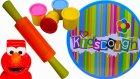 Kids dough Sofralı Merdaneli oyun hamuru kalıpları ile oyun oynuyoruz