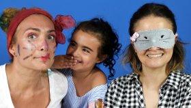 UmiKids ile Gözü Kapalı Makyaj | Hello Kitty Makyajı | EvcilikTV