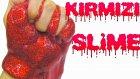 4 TL ile Evde  Slime Nasıl Yapılır Bayrak Kırmızı Slime Yapımı