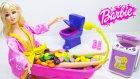 Barbie Bebek Banyo Yapma Oyun Seti Prenses Anlily Küvette Şeker Banyosu