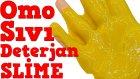 Borakssız Omo Sıvı Deterjan ile Slime Oluyor mu Denedim Yumurta Sarısı Slime Yapımı