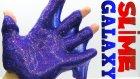 Evde Galaxy Slime Nasıl Yapılır Balkondan Aşağı Slime Uzattık