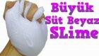 Süt Beyaz Büyük Slime Traş Köpüğü ile Marshmallow Slime Yapımı