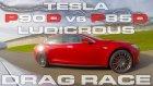 İki Tesla Model S Drag Yarışında Karşı Karşıya
