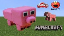 Minecraft Domuz Karakteri Play-Doh Oyun Hamuru İle Yapımı - Oyuncak Tv