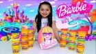 Barbie Dev Oyun Hamuru Sürpriz Yumurtası Açıyoruz Barbie Oyuncağı imoji Mlp Furby Shopkins Yumurta