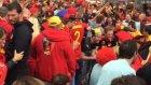 Belçikalı Taraftarlar Fransa Sokaklarını İnletti