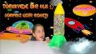 Dev Sürpriz Uzay Roketi Yumurtası Açma Kinder Yumurta Spider Man Frozen Anna Disney Hello Kitty