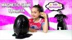 Manyetik Siyah Slime Dev Sürpriz Yumurta Sonu Eksik Video :) | Magnetic Slime Surprise Egg