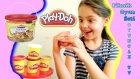 Oyun Hamuru  Piknik için Yiyecekler Hazırlama Play Doh Oyun Hamuru Kurabiye Sandviç Meyve Hazırlama