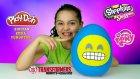 Sırıtan Emoji Oyun Hamuru Dev Sürpriz Yumurta Açma | Emoji Paketleri MLP Transformers Cicibiciler