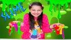 Slime Patlak Gözlerle Oynama - Crystal Slime Kutular Slime İçinde Gözler Var :)