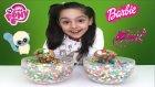 Sürprizlerle Dolu Şekerleme Sakız Kaseleri Pony Yoohoo Barbie Winx Spider Man Frozen Kinder Yumurta