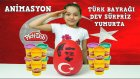 Türk Bayrağı Dev Sürpriz Yumurta Oyun Hamuru Türk Askerleri Savaş Animasyonu Ve  Asker Oyuncakları