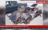 34 Bin Liraya Çıtır Hasarlı Lamborghini