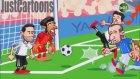 Almanya - İtalya maçı animasyon film oldu