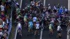 Bisikletçi Kazaya Rağmen Devam Etti