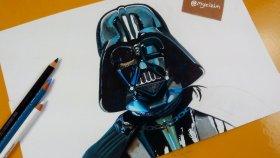 Darth Vader Çizimi | Gerçekçi Karakter Çizimi