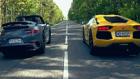 Porsche 911 Turbo S ile Lamborghini Aventador kapıştı