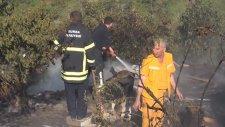 Yangın Helikopteri Gazetecileri Islattı
