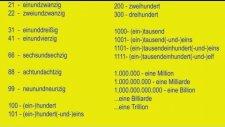 Almanca SAYILAR-Deutsche Numbers- die Zahlen