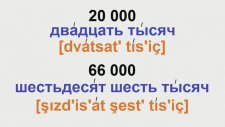 Rusça sayılar-Russian Numbers-Russian Rusça dersler
