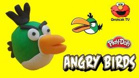 Angry Birds Büyük Gagalı Yeşil Kuş Play-Doh Oyun Hamuru ile Yapımı [Oyuncak TV]