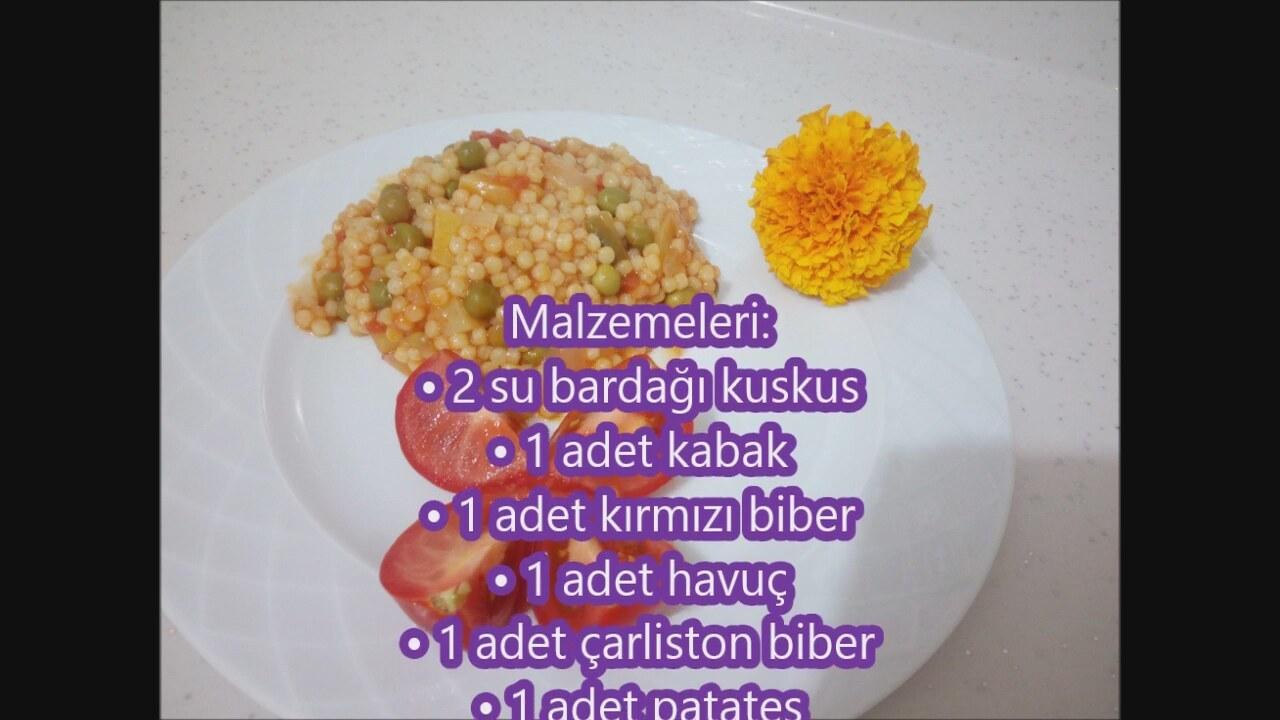 Sebzeli Kuskus Pilavı Tarifi