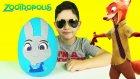 Zootropolis: Hayvanlar Şehri Oyun Hamuru DEV Sürpriz Yumurta Açma Hopps Wilde Oyuncakları