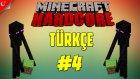 Minecraft Türkçe Hardcore Survival | Enderman Korkusu | Bölüm 4