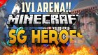 Minecraft Türkçe - Mini Games - SG Heroes - 1v1 Arenada Mevzular