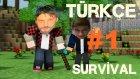 Minecraft Türkçe Multiplayer | Survival Hayatta Kalma | Bölüm 1